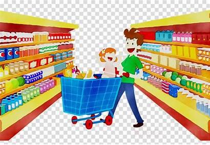 Supermarket Clipart Cartoon Retail Clip Shopping Transparent