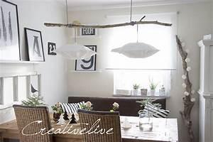 Lampe über Kochinsel : idee f r eine diy lampe mit treibholz wohnkonfetti ~ Sanjose-hotels-ca.com Haus und Dekorationen