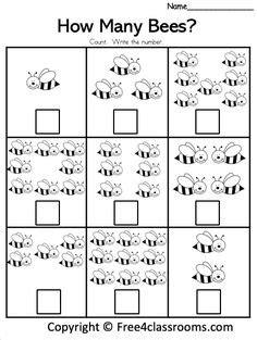 number worksheets images preschool math number