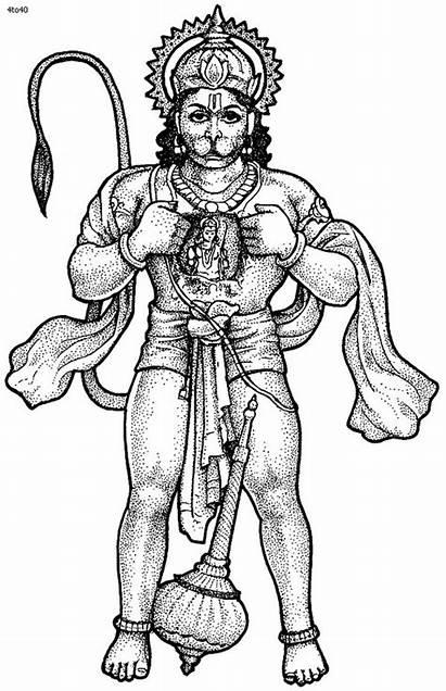 Coloring Pages Hanuman Ram Clipart Lord Navami