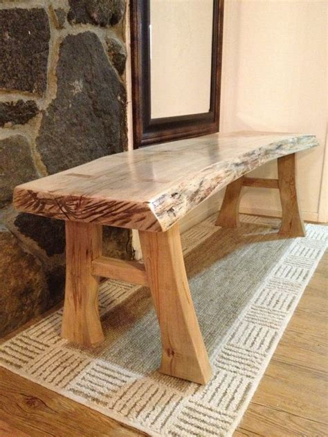 natural edge maple bench lovely   rustic bathroom