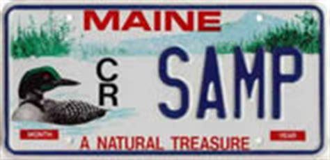 Maine Dmv Vanity Plates by Bureau Of Motor Vehicles Registrations