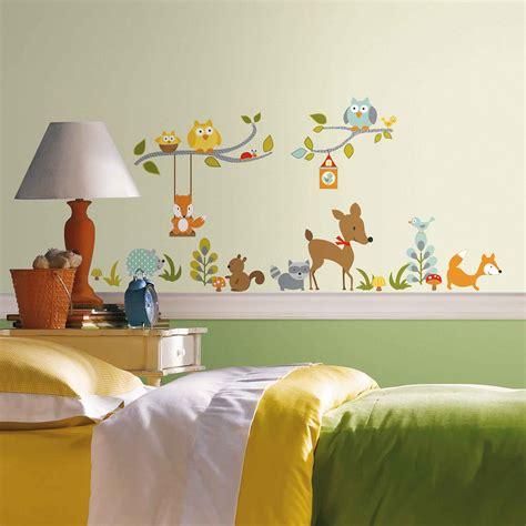 Wandtattoo Kinderzimmer Waldtiere by Wandsticker Tiere Des Waldes Wandtattoo Fuchs Eule