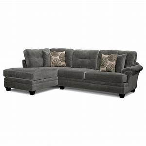 cordelle 2 piece left facing chaise sectional gray With sectional sofas left facing chaise