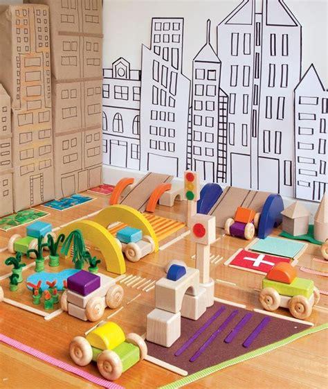 construction play blocks  cardboard city props play