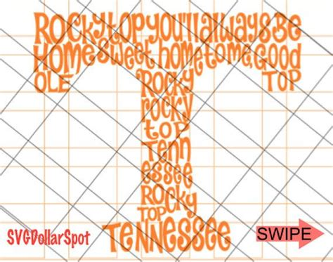 Digital use of the files. Rocky Top SVG Tennessee Vols SVG The Real Tennessee T ...