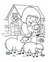 Farm Coloring Pages Simple Children Printable Justcolor sketch template