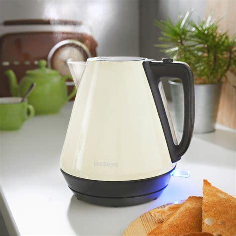 goodmans stainless steel colour kettle  kitchen bm