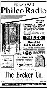 Philco Model 89  89b  Cathedral Radio  1933