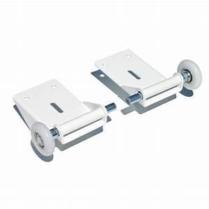 supports roulette bas de porte de garage sectionnelle With roulette pour porte de garage sectionnelle