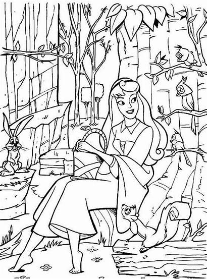 Sleeping Coloring Beauty Pages Coloringpages1001 Printable