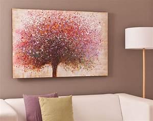 Toile Deco Salon : tableau arbre multicolore becquet ~ Teatrodelosmanantiales.com Idées de Décoration