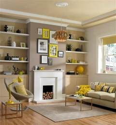 decorate your living room with large wall shelves living