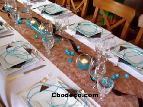 id 233 e d 233 coration de table turquoise et chocolat by cbodeco s 233 bastien lhoste