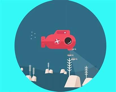 Submarine Animation Graphics Motion Project