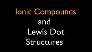Ionic Compounds  Lewis Dot Structures