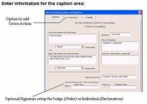 california legal pleading templates calpleadingsus With legal caption template