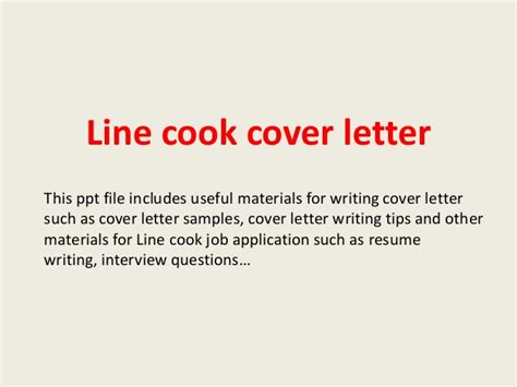 Line Cook Resume Cover Letter by Line Cook Cover Letter