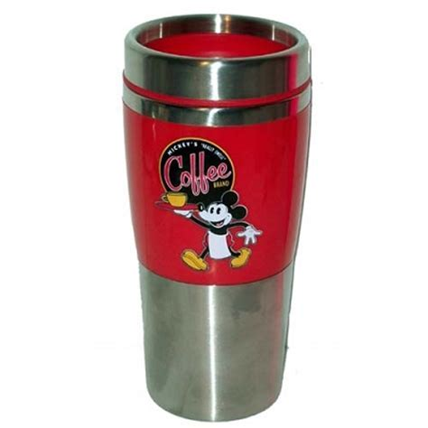 Disney Travel Mug   Mickey Mouse   Coffee Brand   Red