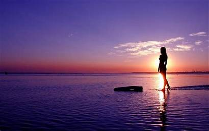 Mann Frau September Mensch Natur Das Sunset