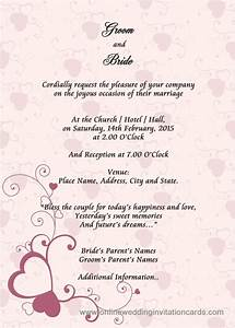 Sample Wedding Card Invitation Wedding Invitation Layout