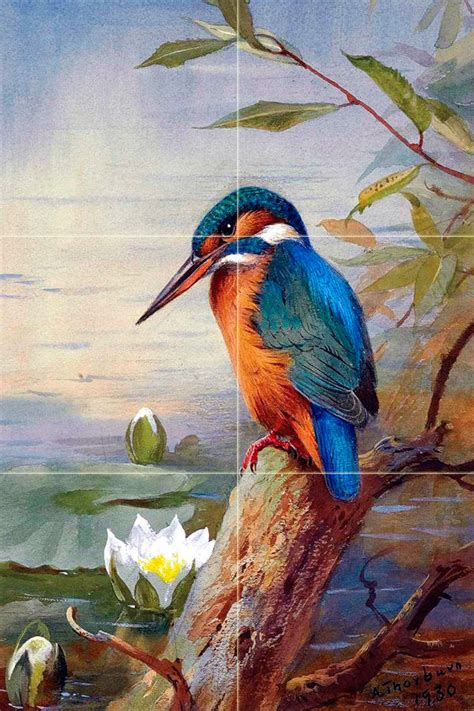 kitchen backsplash mural wildlife bird colorful ceramic mural backsplash bath 5051