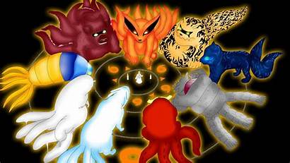 Tailed Beasts Naruto Young Tails Nine Tail