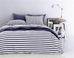 Bettwäsche Blau Weiß Gestreift : jersey bettw sche gestreift blau ~ Watch28wear.com Haus und Dekorationen