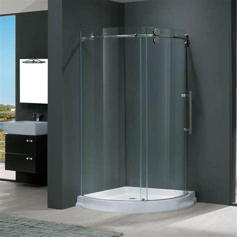frameless curved shower enclosure steel shower