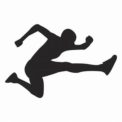 Jump Silhouette Salto Atleta Svg Transparent Silueta