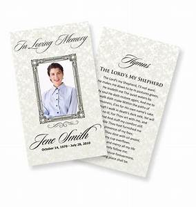 funeral prayer cards examples temporarily urgent With funeral remembrance cards template