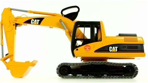 caterpillar excavator bruder  muffin songs toy review youtube