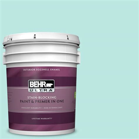 behr ultra 5 gal 490a 2 cool jazz eggshell enamel interior paint and primer in one 275005