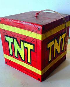 Cube Explosive Red Dynamite TNT Pinata Fun Party Game