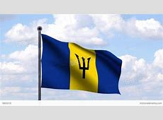 Animated Flag Of Barbados Stock Animation 1865610
