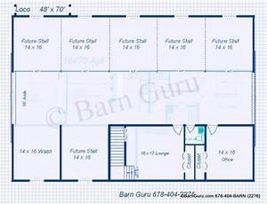 my project horse barn plans with living quarters With 6 stall horse barn plans