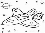 Rocket Coloring Pages Printable Ship Space Paper Easy Plate Print Planet Colorir sketch template