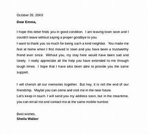 12 sample farewell letters to co workers to download for Farewell letter to colleagues template