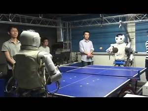 Robot plays table tennis (vs Robot, vs Human) - YouTube Table Tennis