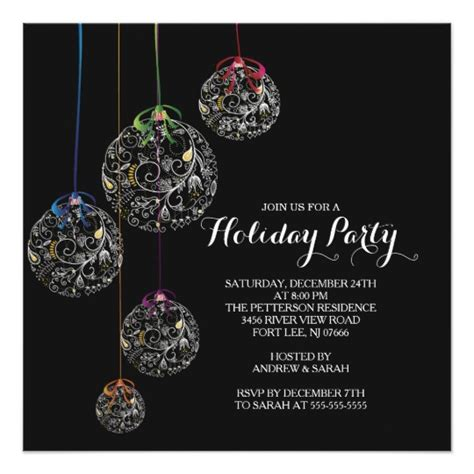 christmas ball party invitation zazzle