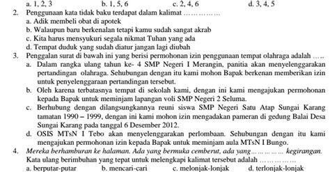 Contoh Soal UAS Bahasa Indonesia SMP Kelas 8 Semester 1 ...