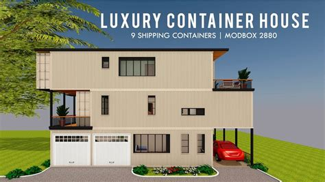 luxury shipping container house design   square feet floor plans modbox  youtube