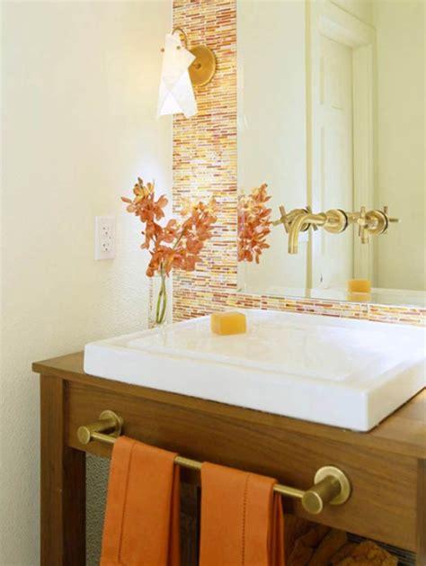 fresh  cool orange bathroom ideas
