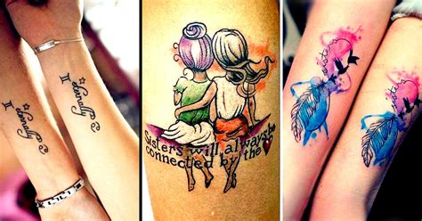perfectly sublime tattoo designs  sisters