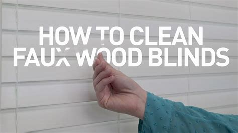 how to clean l shades how to clean faux wood blinds youtube