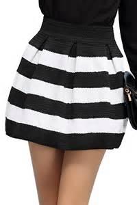 high waist striped skirt oasap com