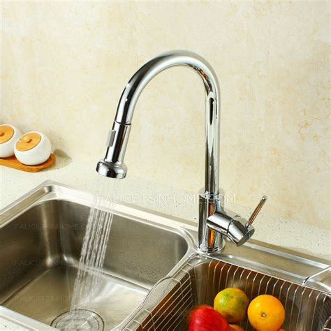 Professional Kitchen Faucet by Professional Copper Single Handle Kitchen Faucets Pull Out