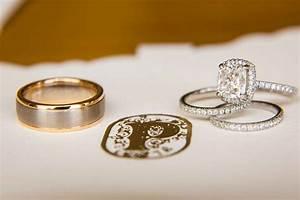 wedding rings engagement wedding ring gap mixed wedding With mixed metal engagement ring and wedding band