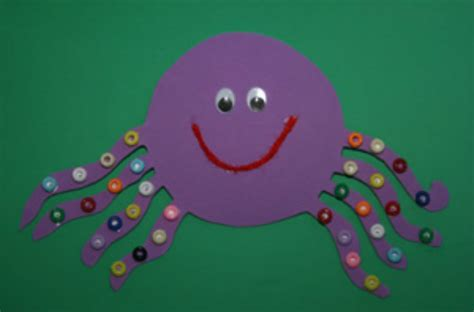 7 easy button crafts for today s parent 132 | octopus button 2015 sept24