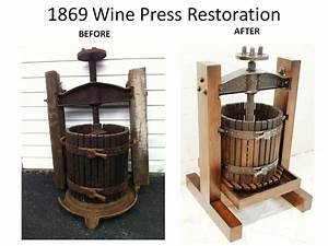 Hand Made Antique Wine Press Restoration/Reproduction by